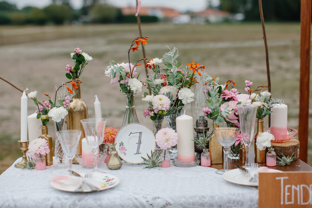 wedding party landes fleurs