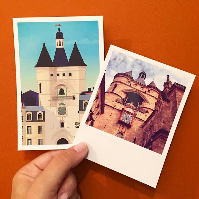 instantanés bordeaux affiches cartes postales