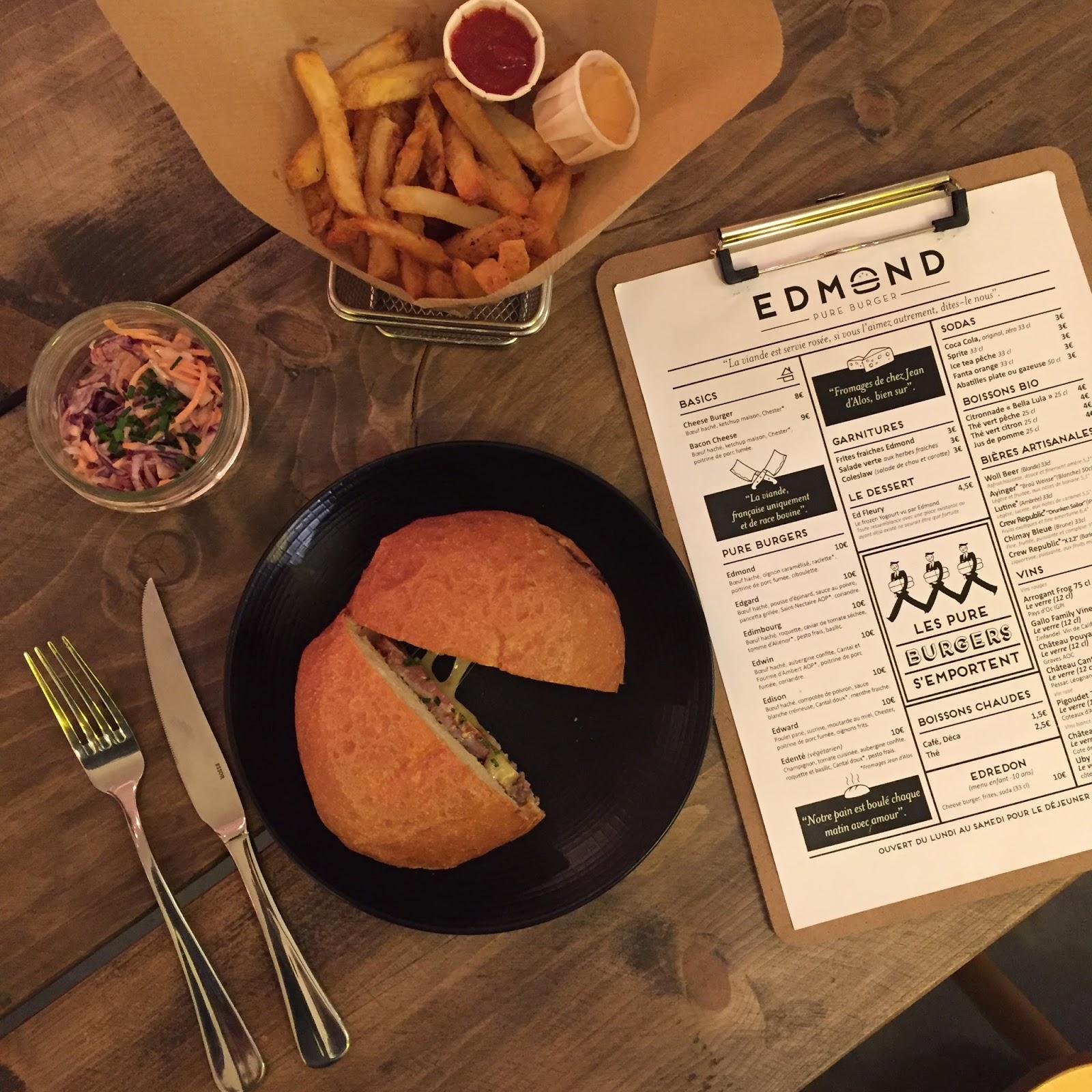 edmond pure burger le top des burgers bordeaux. Black Bedroom Furniture Sets. Home Design Ideas