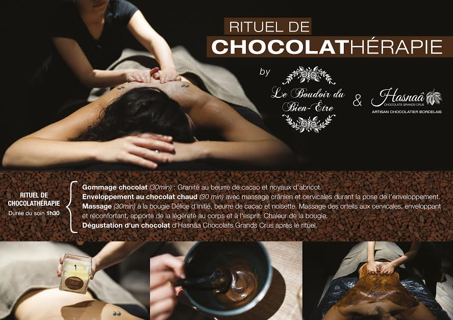 massage chocolat bordeaux chocolathérapie Hasnaa Camille In Bordeaux