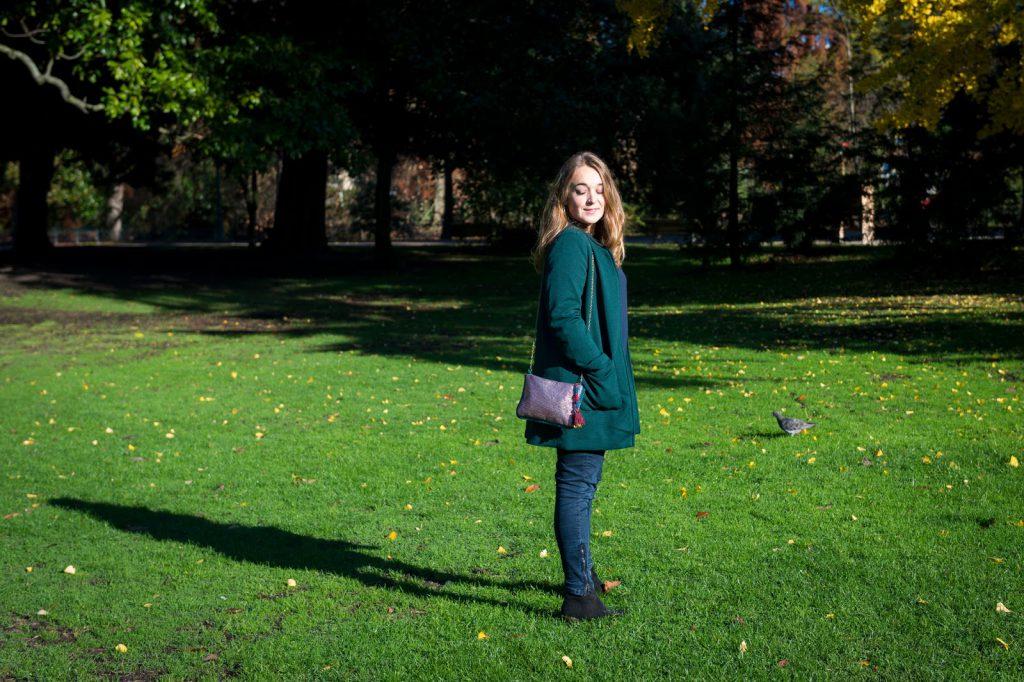 look vert et bleu camille in bordeaux blog mode bons plans