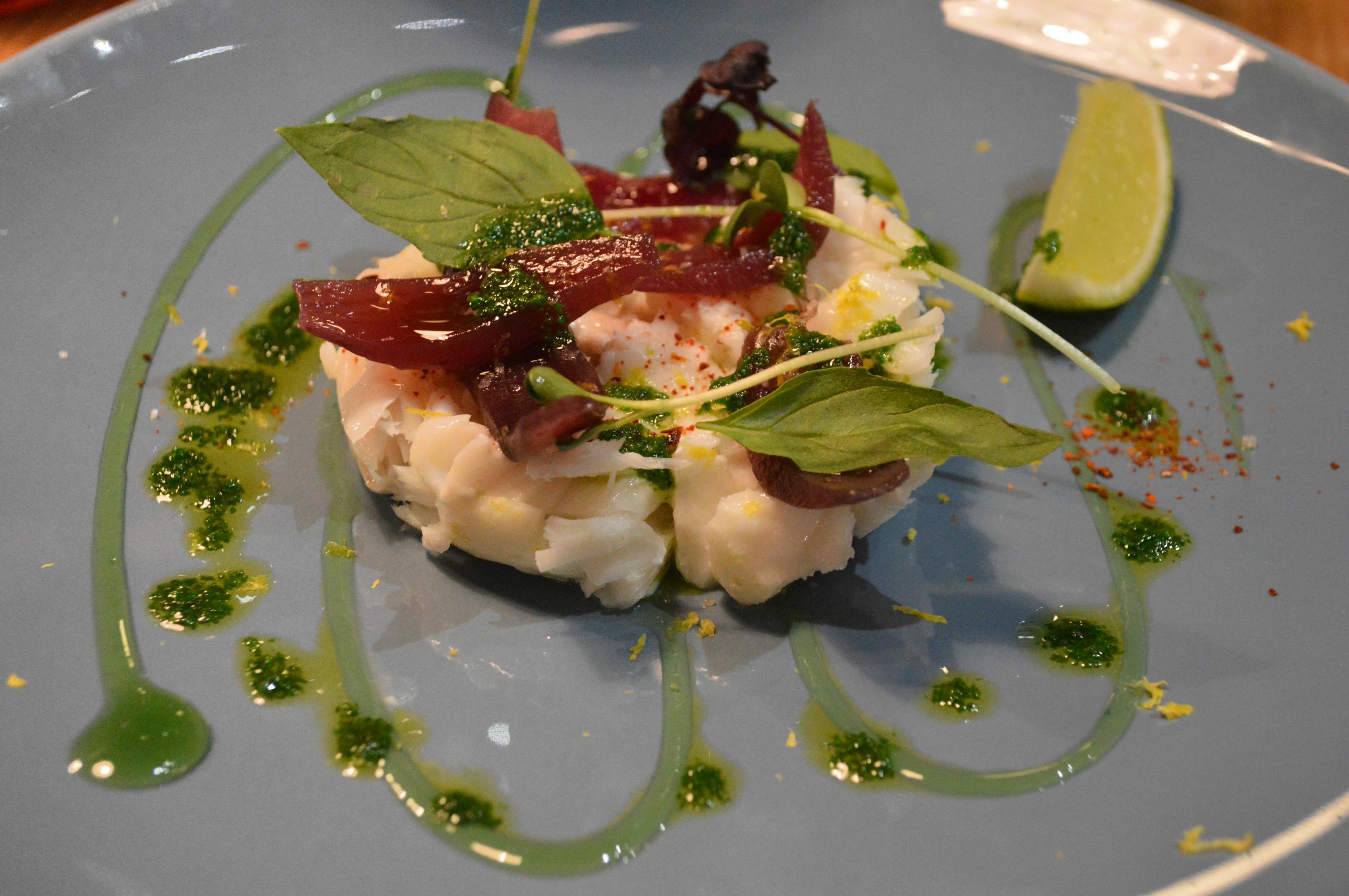 pétales de cabillaud Le Taïaut Talence restaurant néo bistrot