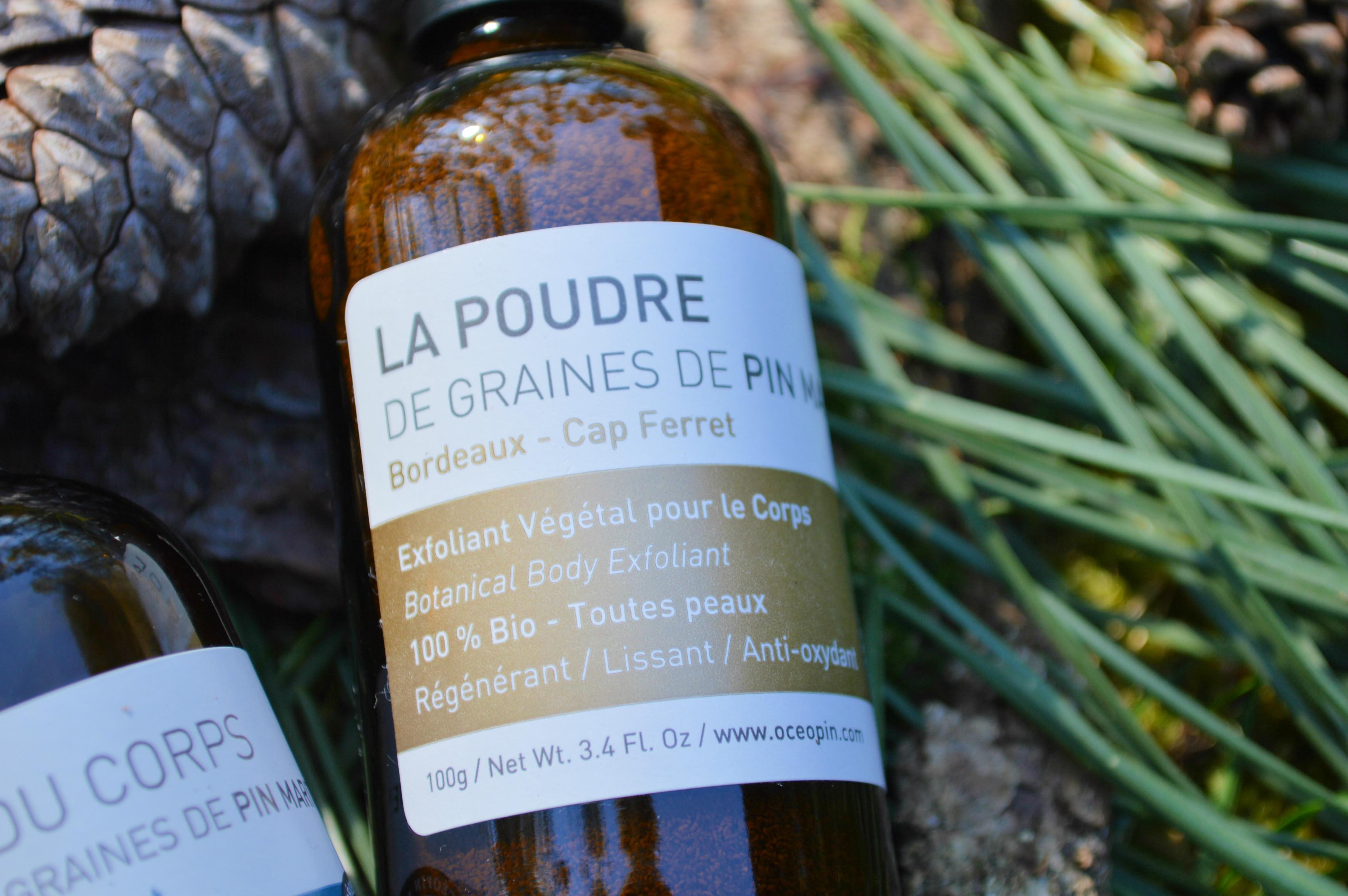 poudre exfoliante graines de pin maritime Océopin