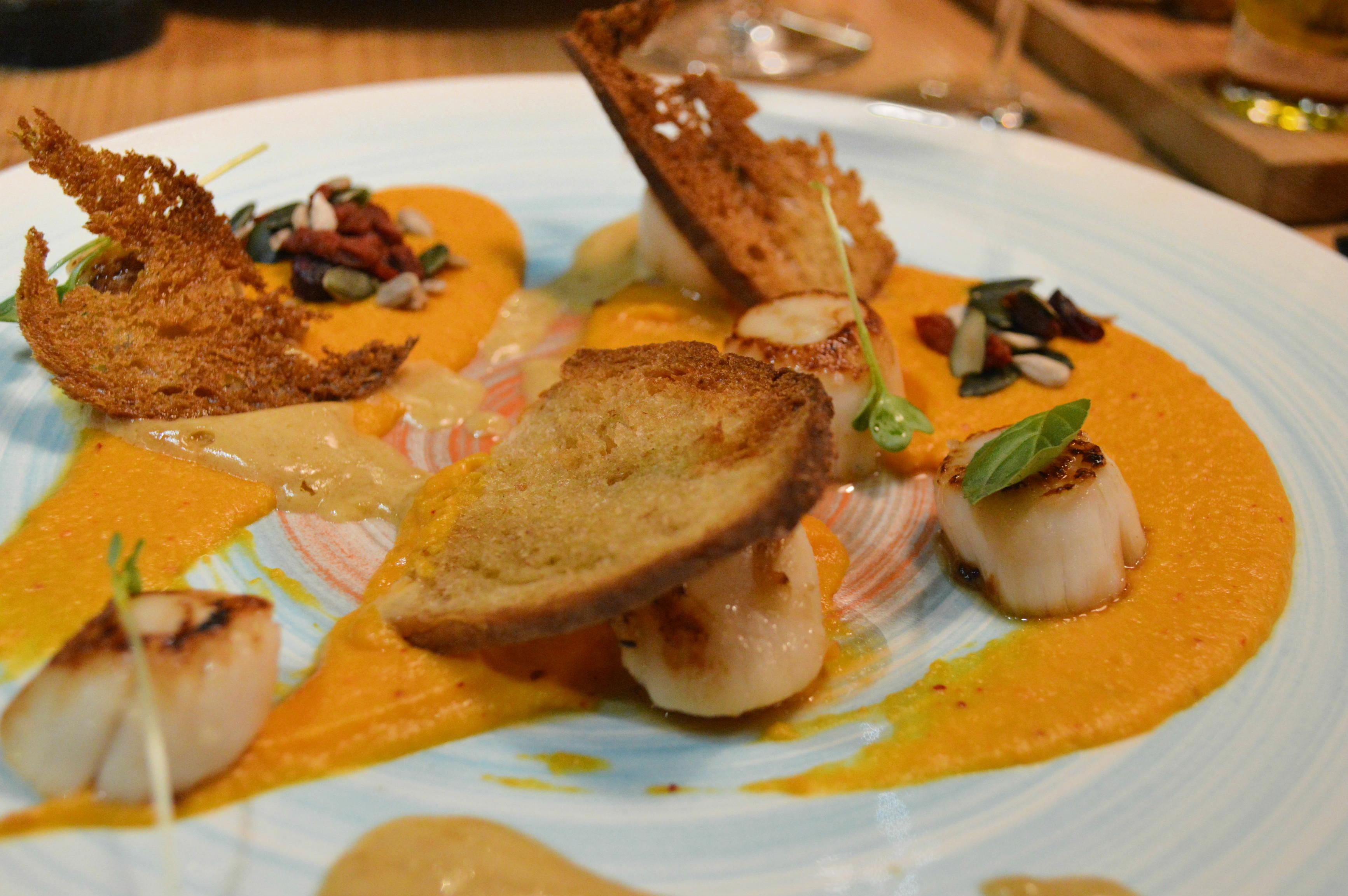 plat saint jacques restaurant le taïaut talence chef florent Chicard blog food Camille In Bordeaux