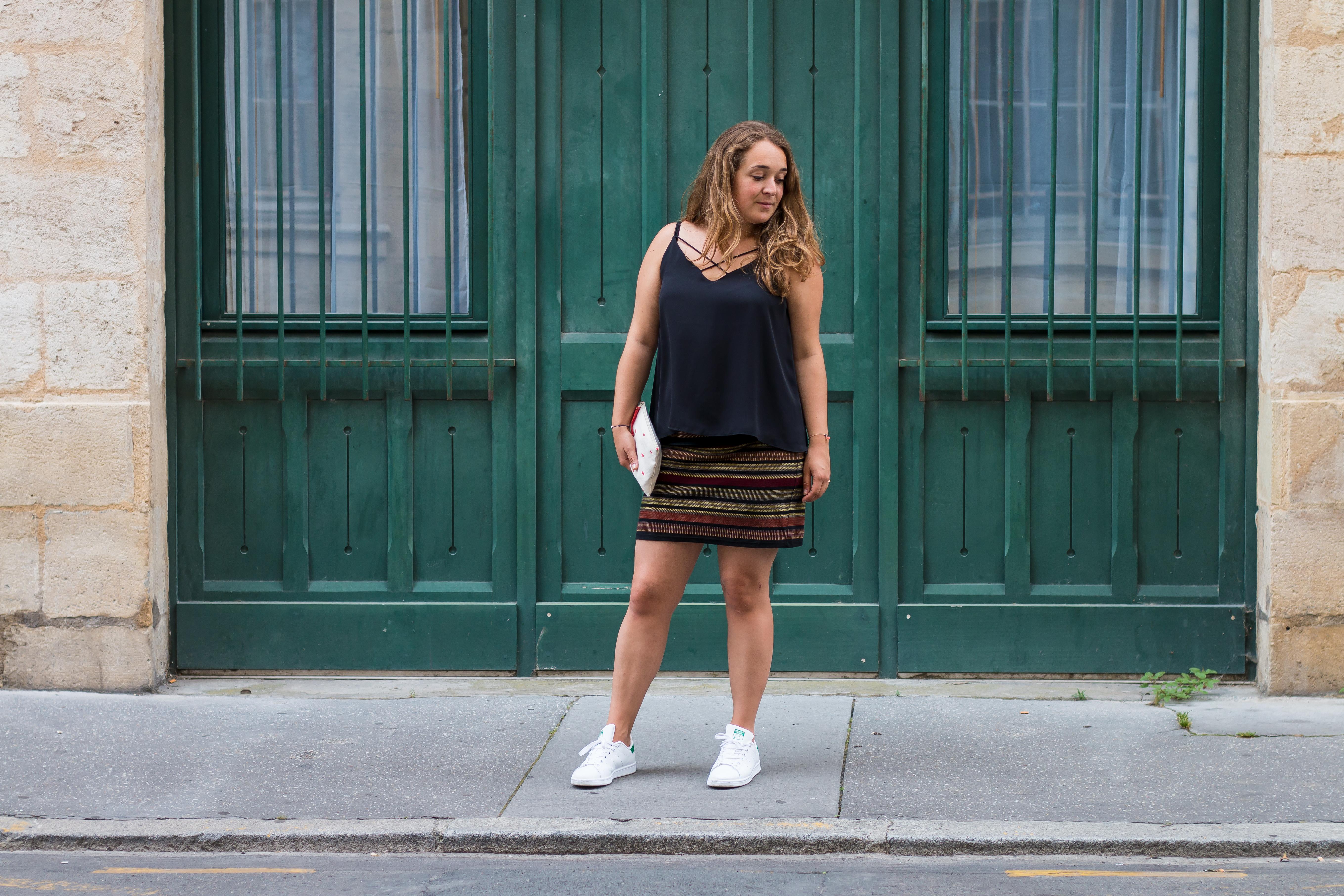 look féminine en baskets - blog Camille In Bordeaux