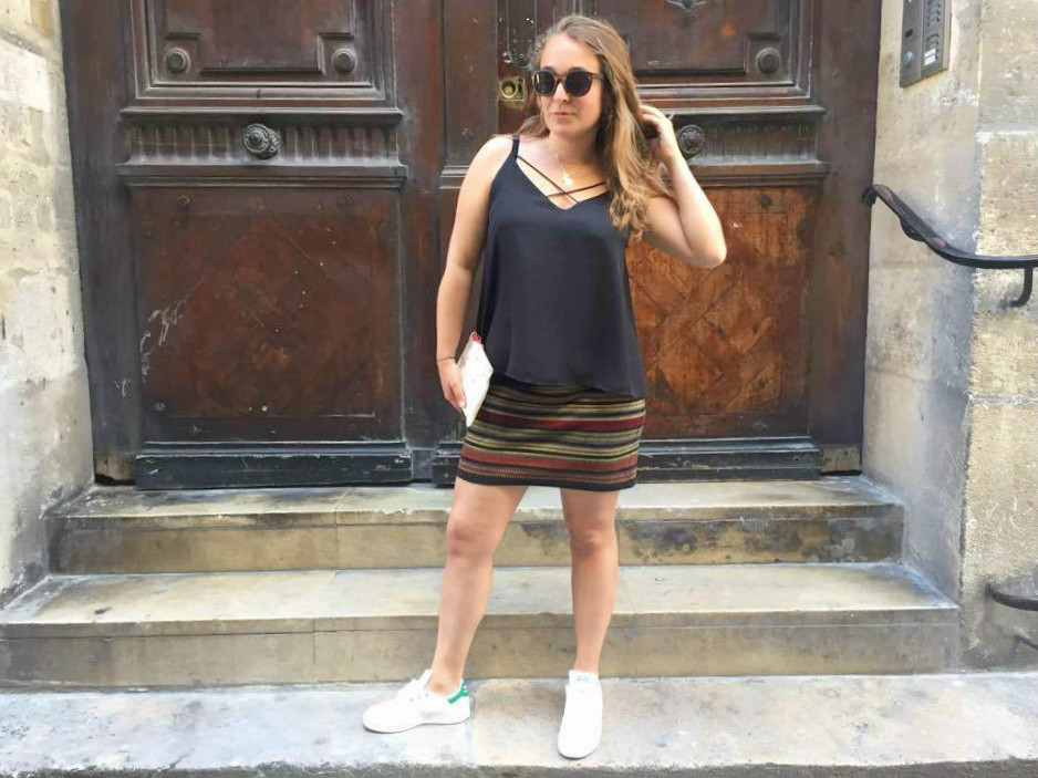 look jupe et Stan Smith - blog Camille In Bordeaux