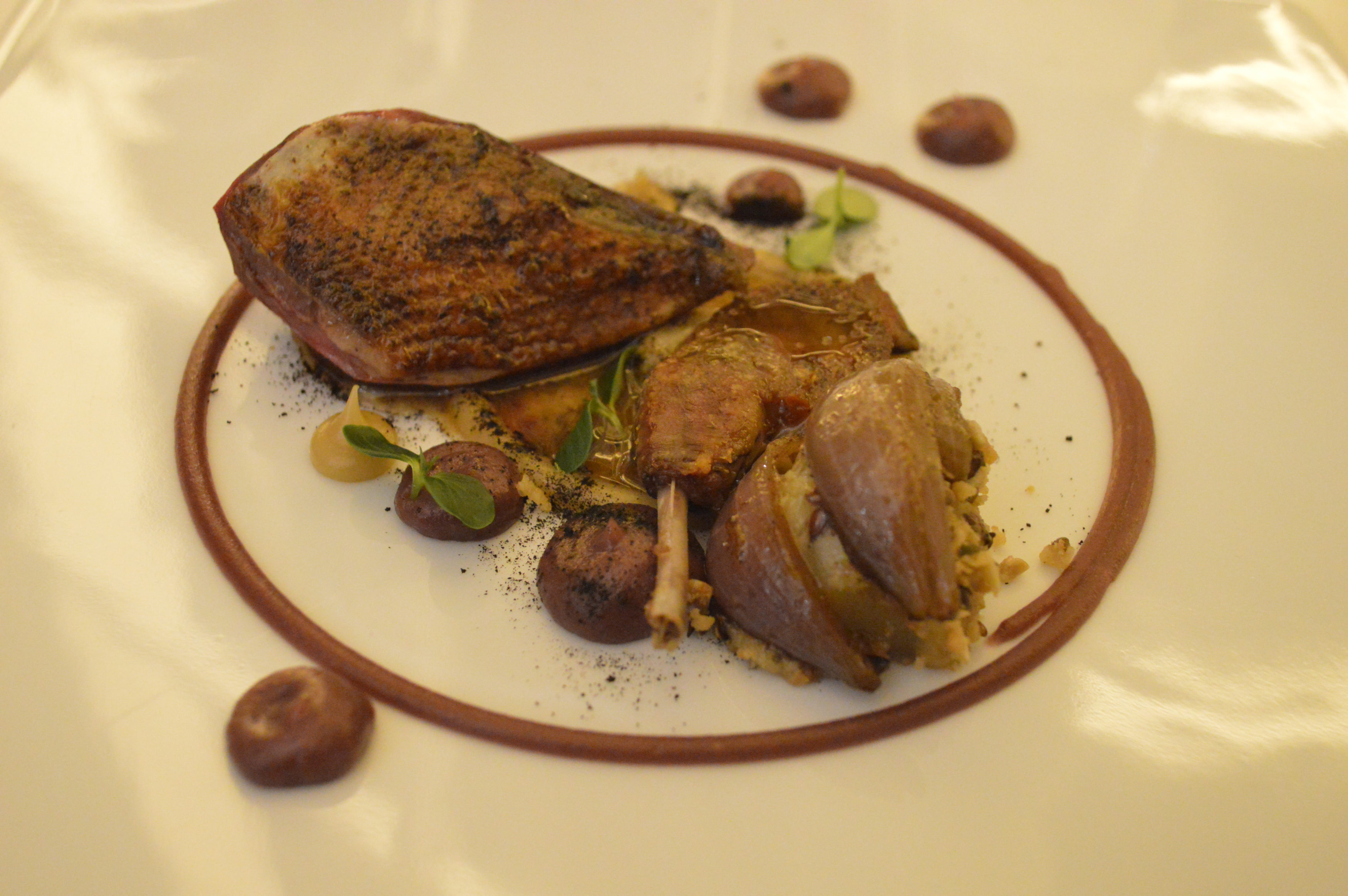pigeon rôti Le Gabriel gastronomique Bordeaux - blog Camille In Bordeaux