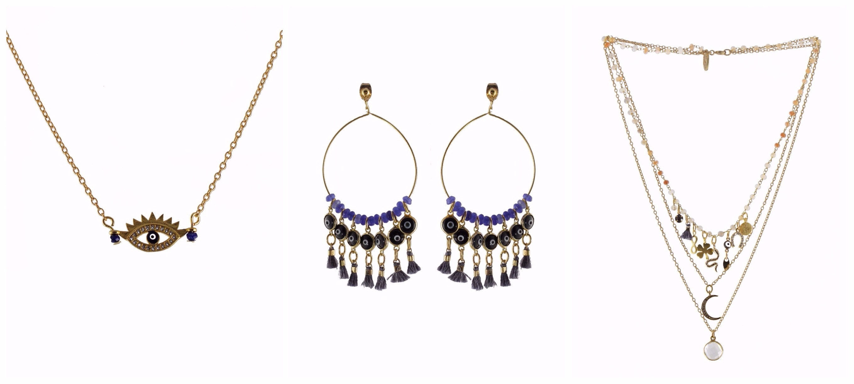 bijoux oeil grec l'atelier des dames - blog Camille In Bordeaux