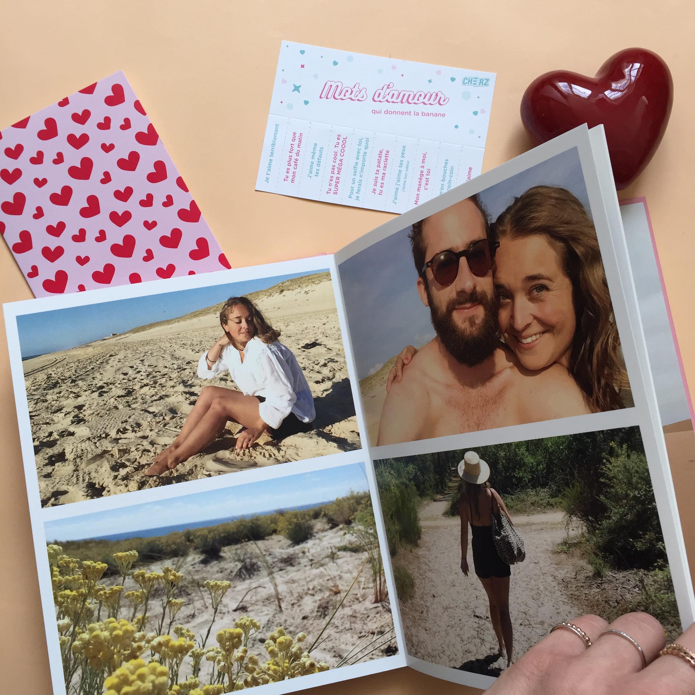 idées cadeaux Saint-Valentin album photo personnalisé code promo Cheerz