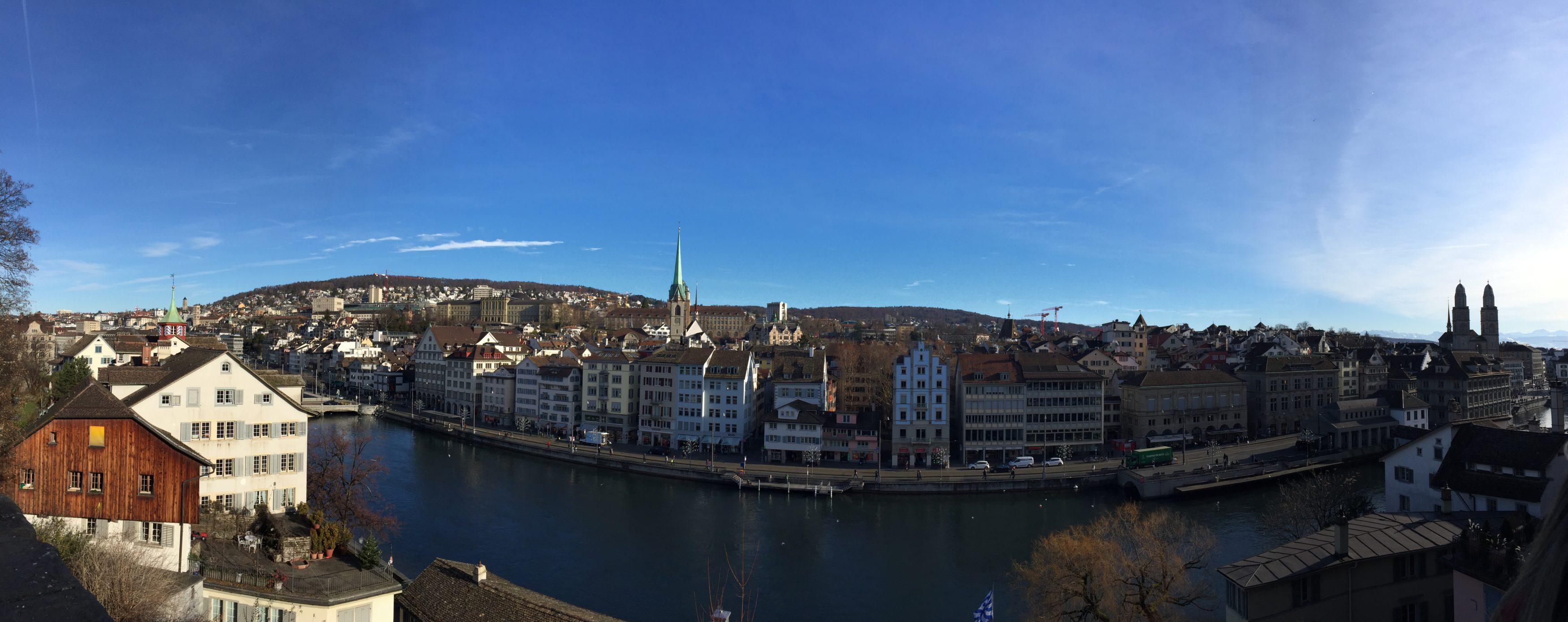 panoramique Zürich - blog voyage Suisse