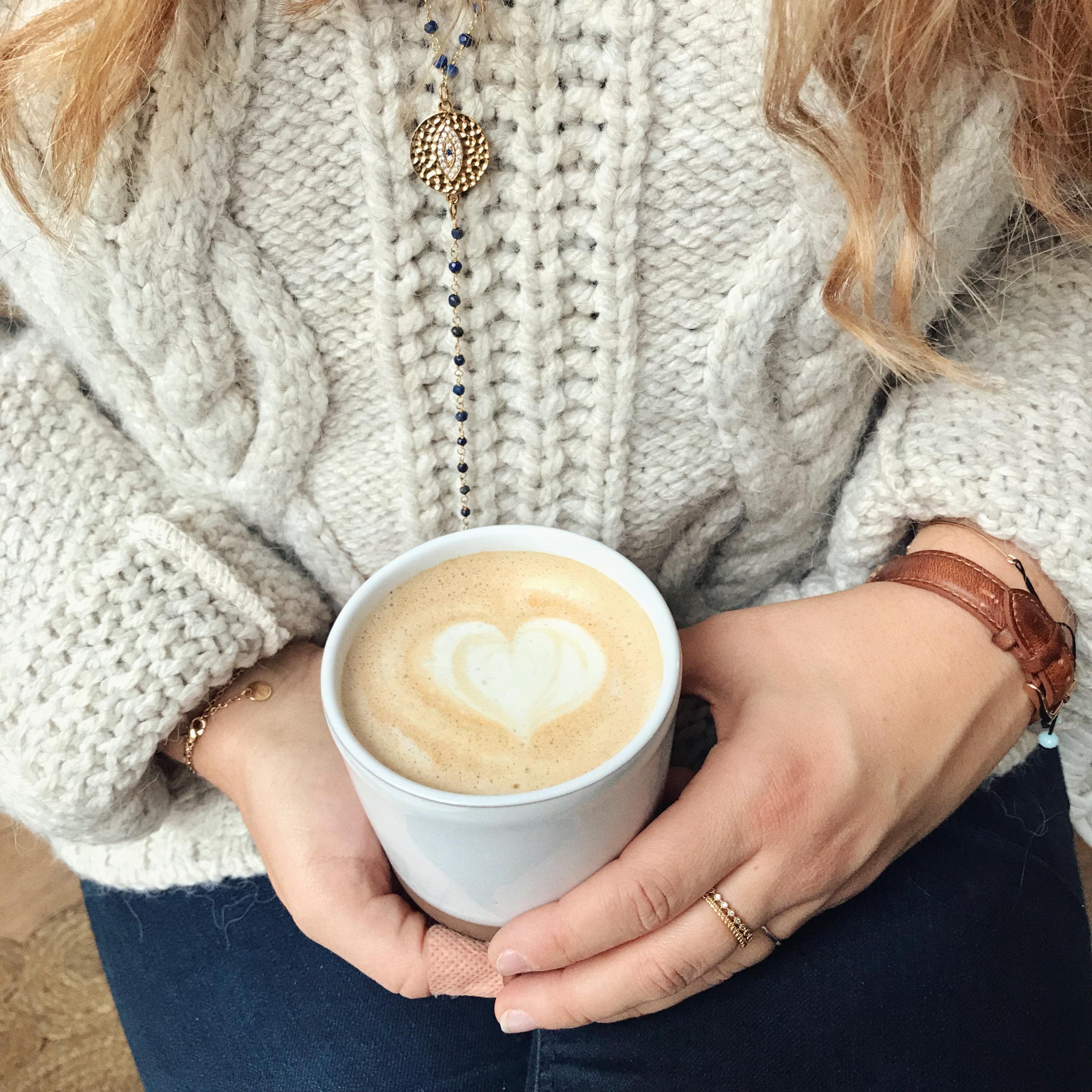 chaï latte contrast brunch - blog Camille In Bordeaux