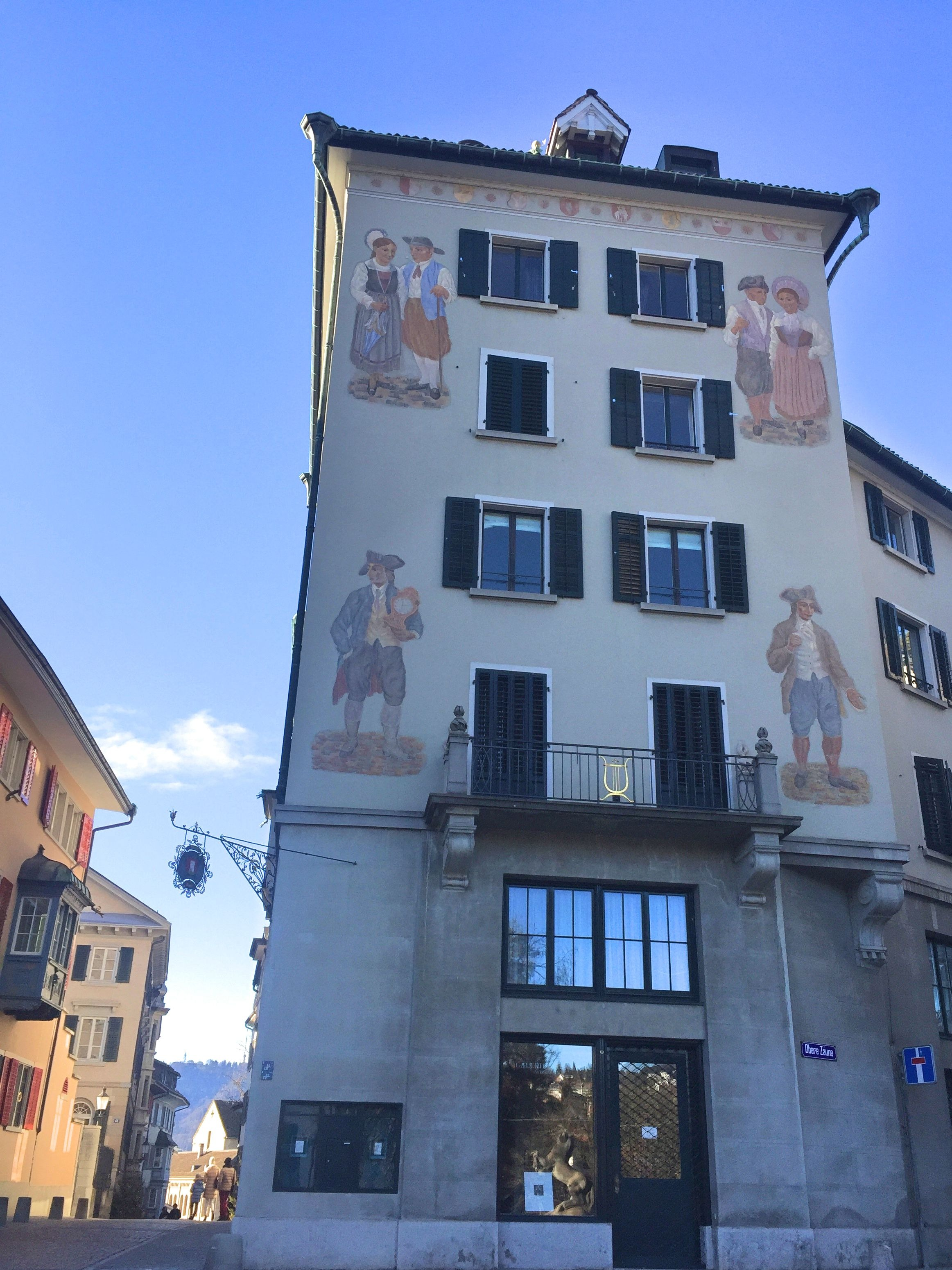 maison fresque Zürich - blog voyage Suisse