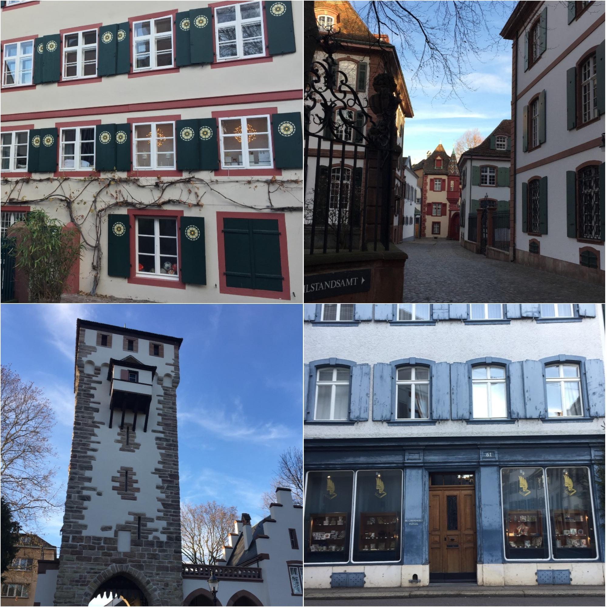 maisons colorées Basel quartier Saint Alban - blog voyage Suisse