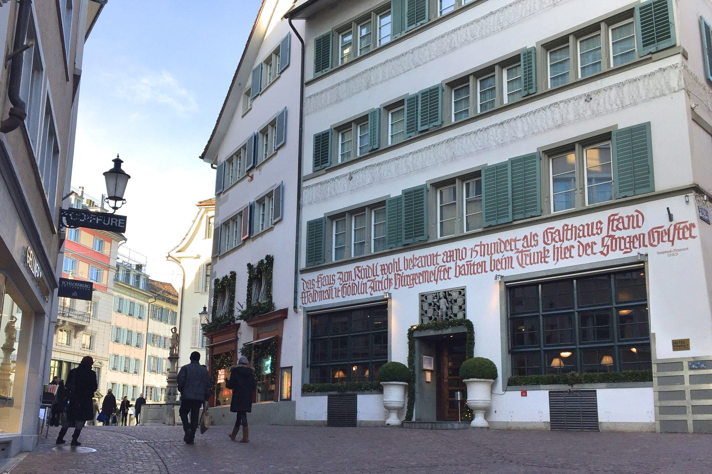 ancienne maison Zürich - blog voyage Suisse