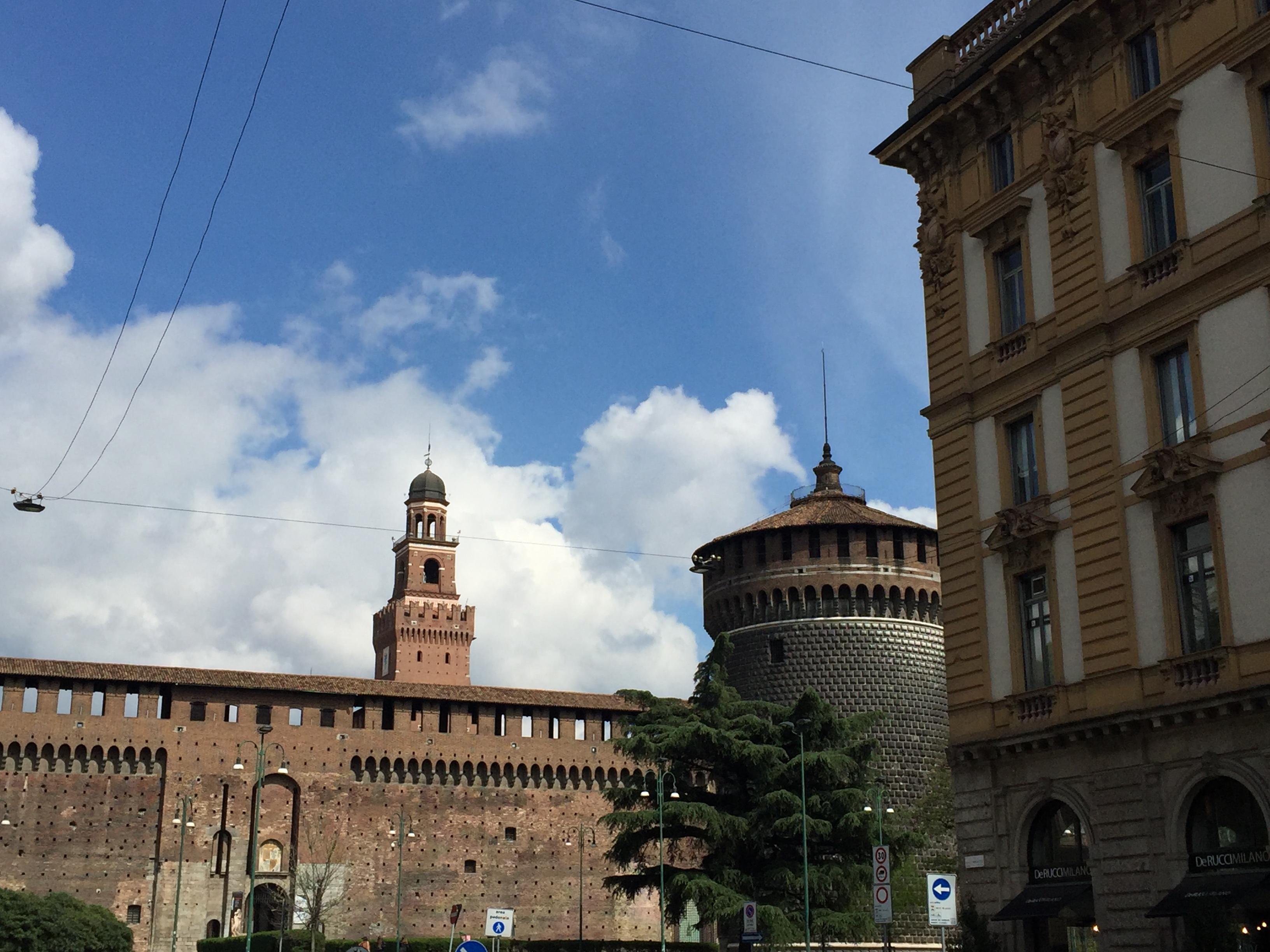 château des Sforza Milan