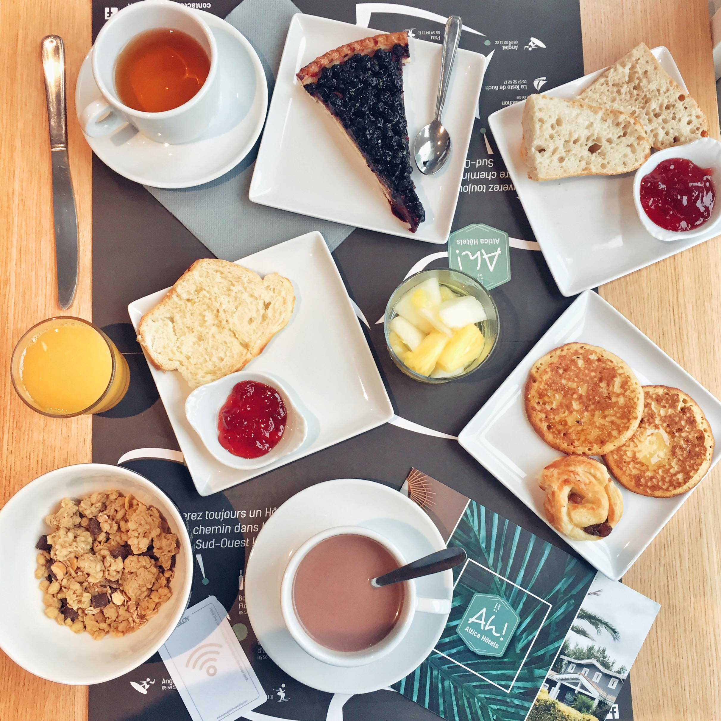petit déjeuner très gourmand Hôtel Atlica