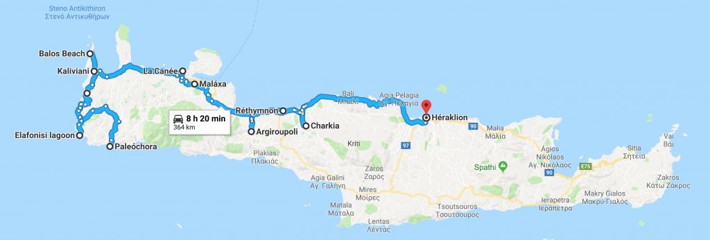 Carte Bali Road Trip.Road Trip Dans Louest De La Crete Carte Camille In Bordeaux