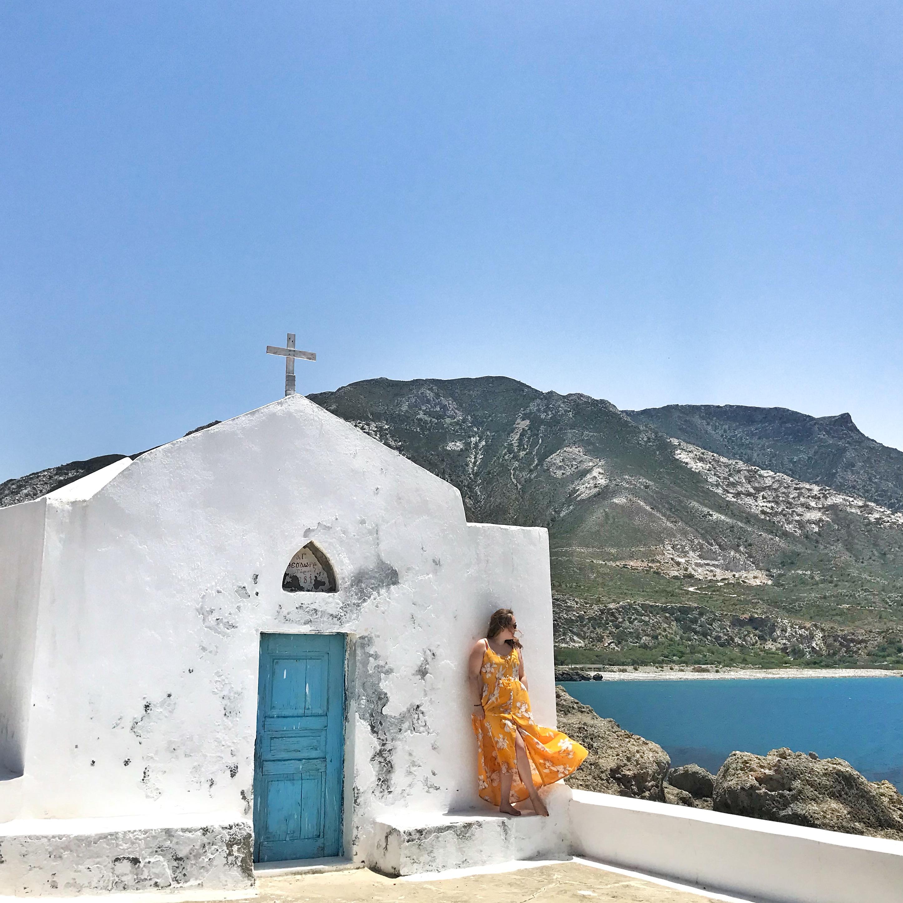 chapelle bleue et blanche voyage en Crète