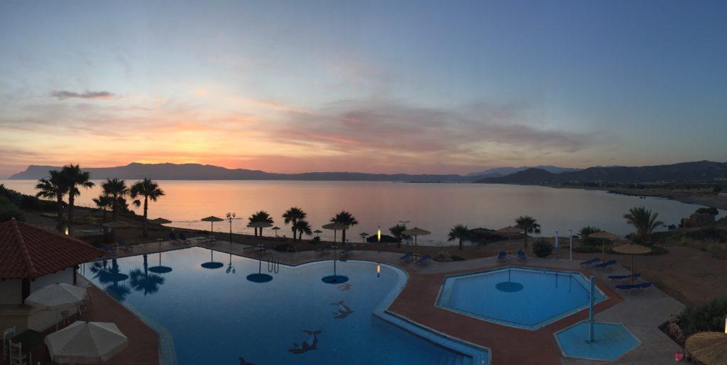 lever de soleil sur Balos Beach road trip en Crète