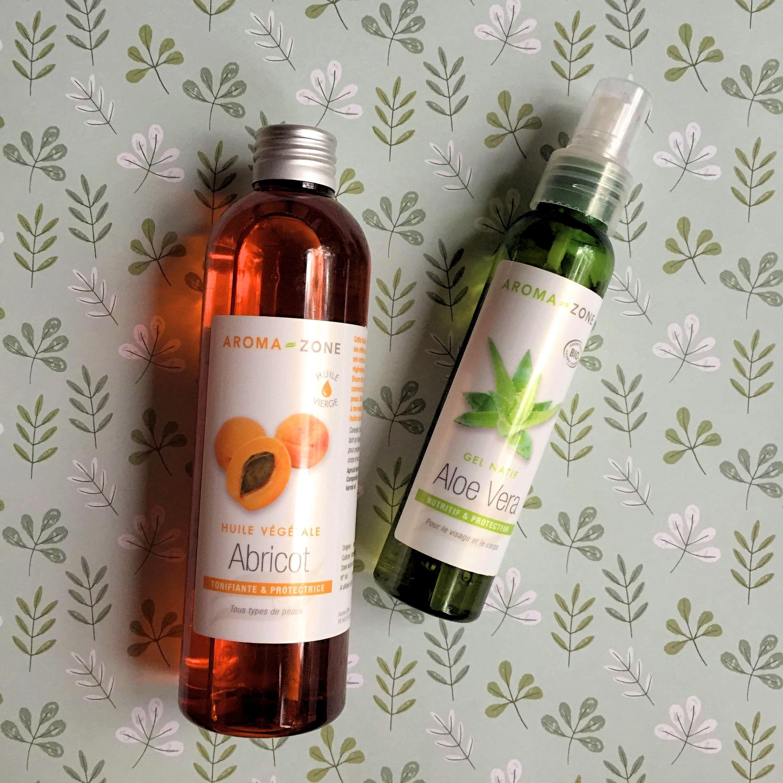 gel aloe vera huile abricot Aroma Zone