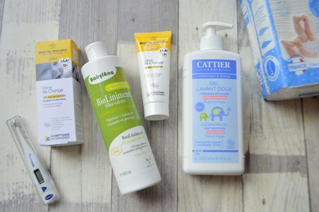 sélection produits maternité shop pharmacie gel lavant Cattier liniment Babyléna Crème de change Comptoirs et compagnie