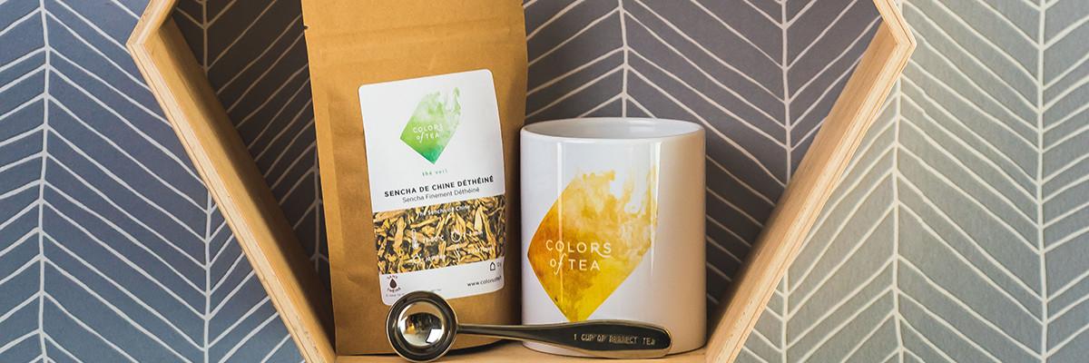 colors of tea box thé