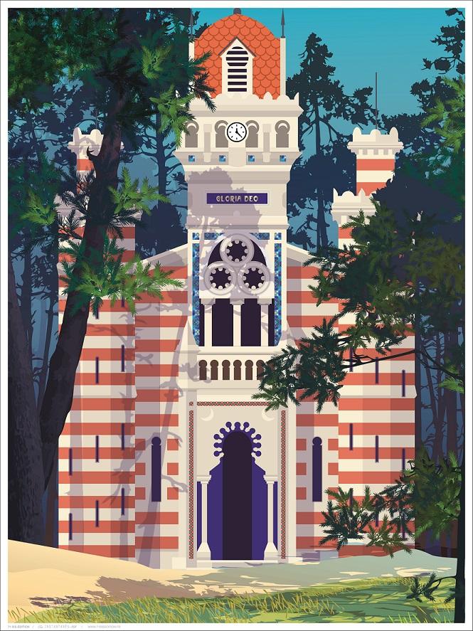 affiche Bordeaux chapelle villa algérienne l'herbe