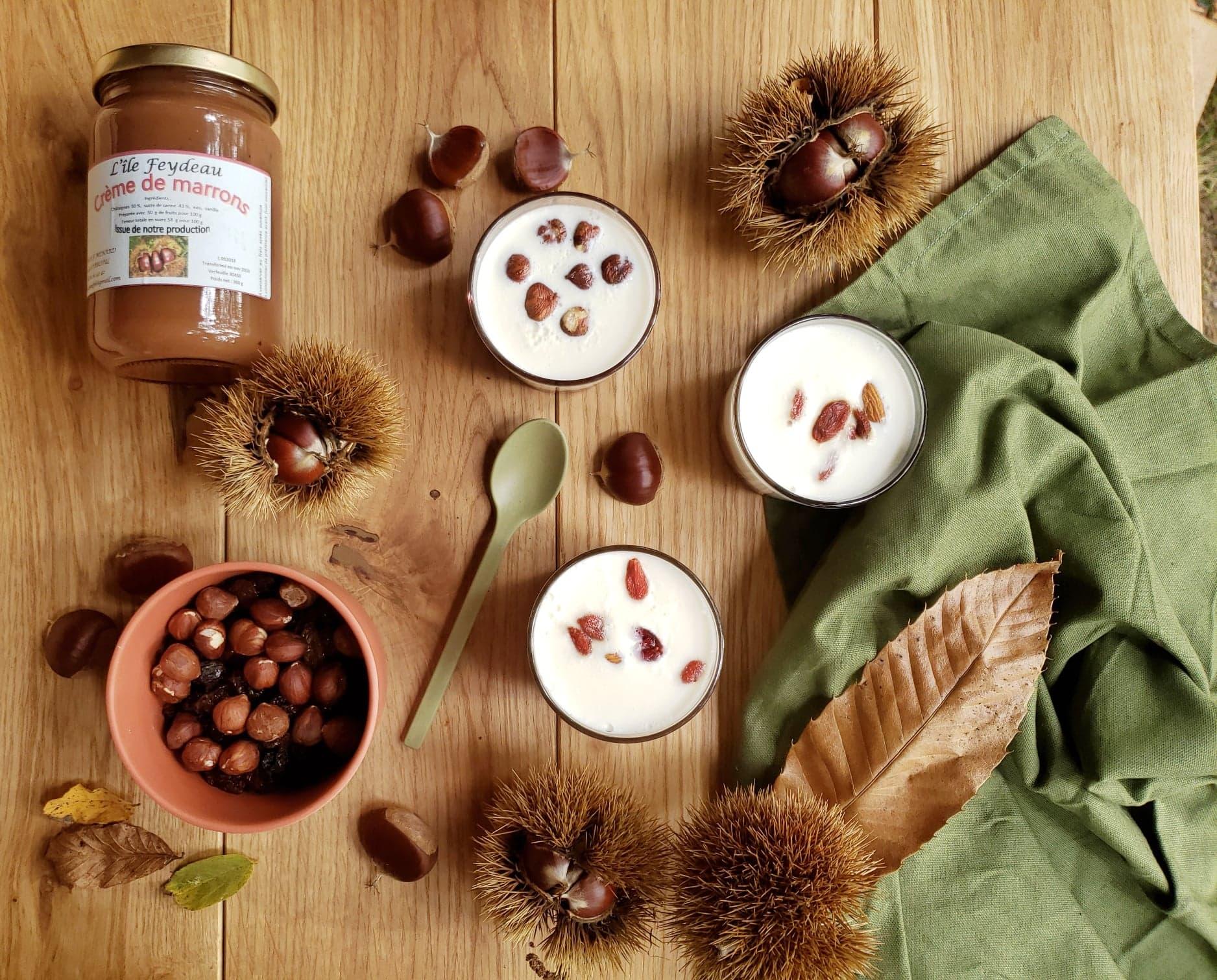 recette crème de marrons pana cotta