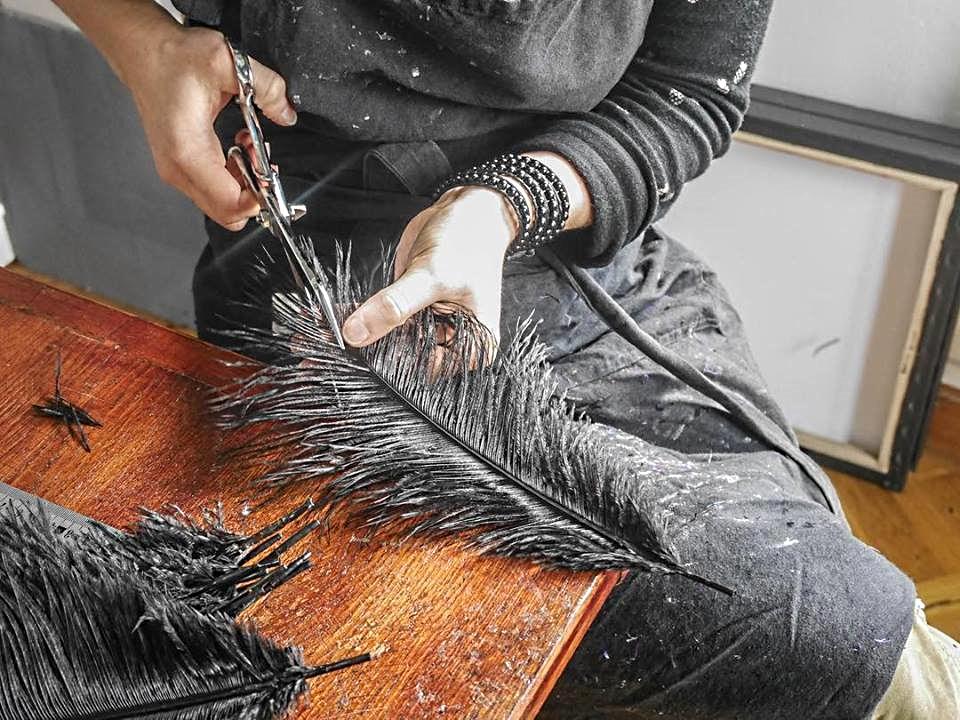 Valérie Tanfin plumassière salon Ob'Art