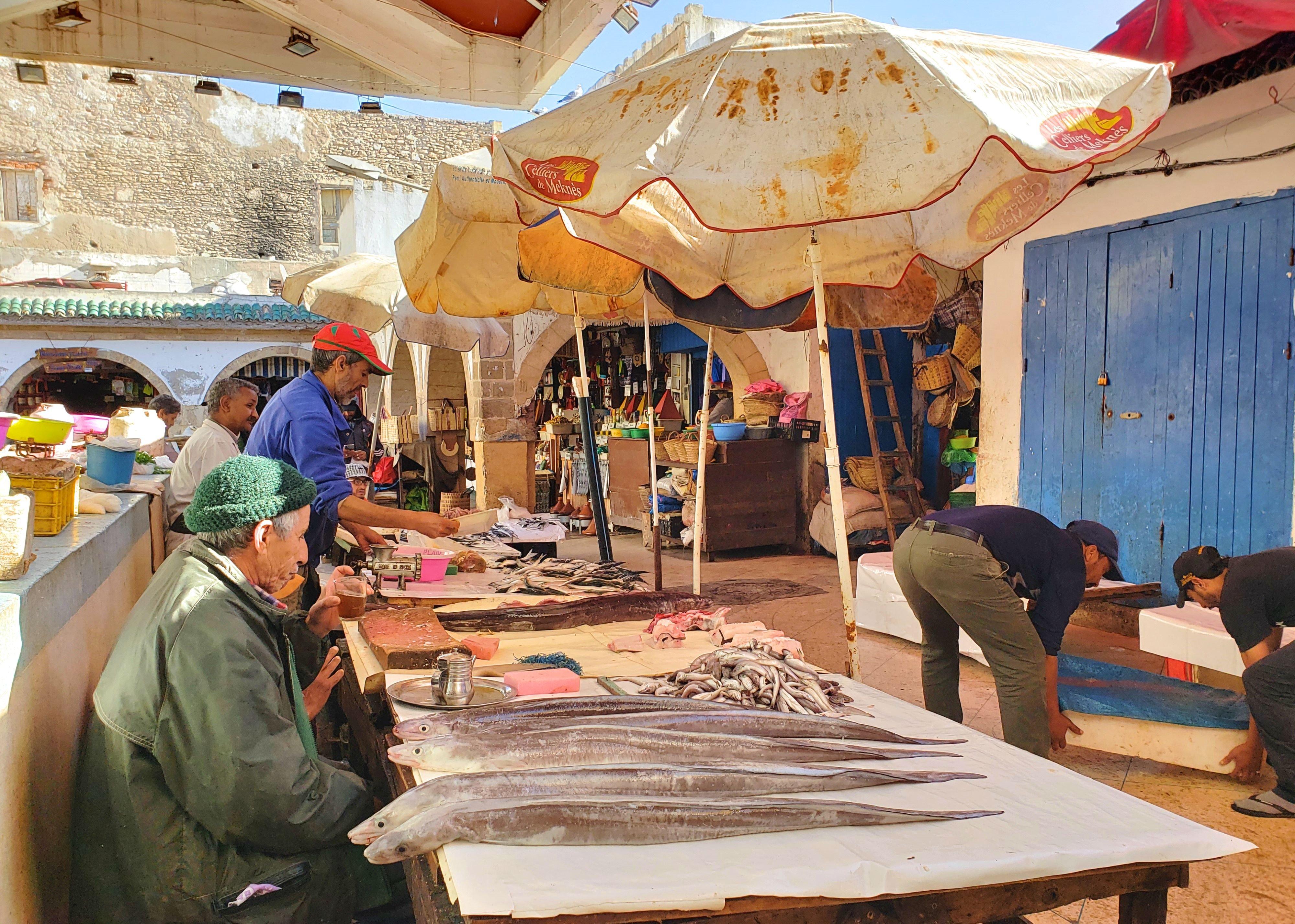 marché aux poissons Essaouira