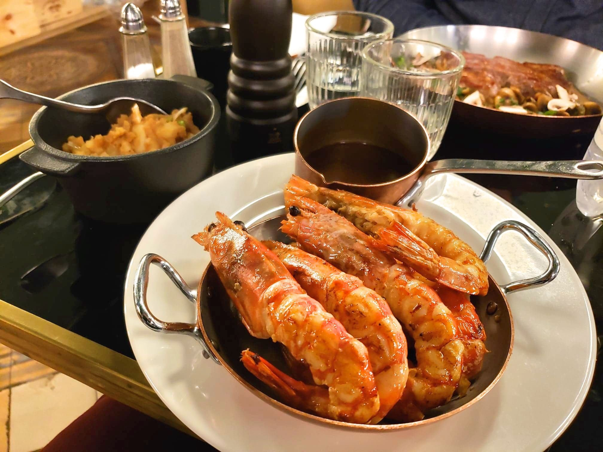 gambas sauvages BIG Bistrot Girondin restaurant Bordeaux