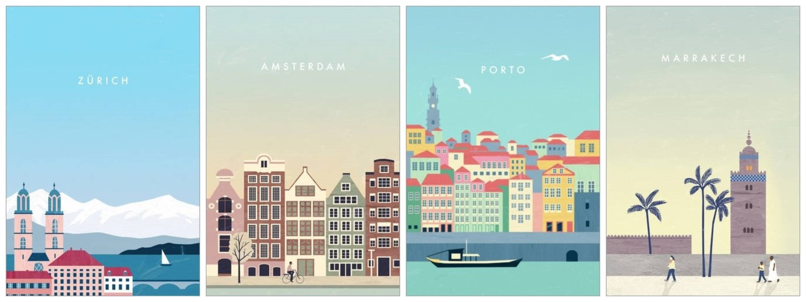 illustrations de villes Posterlounge