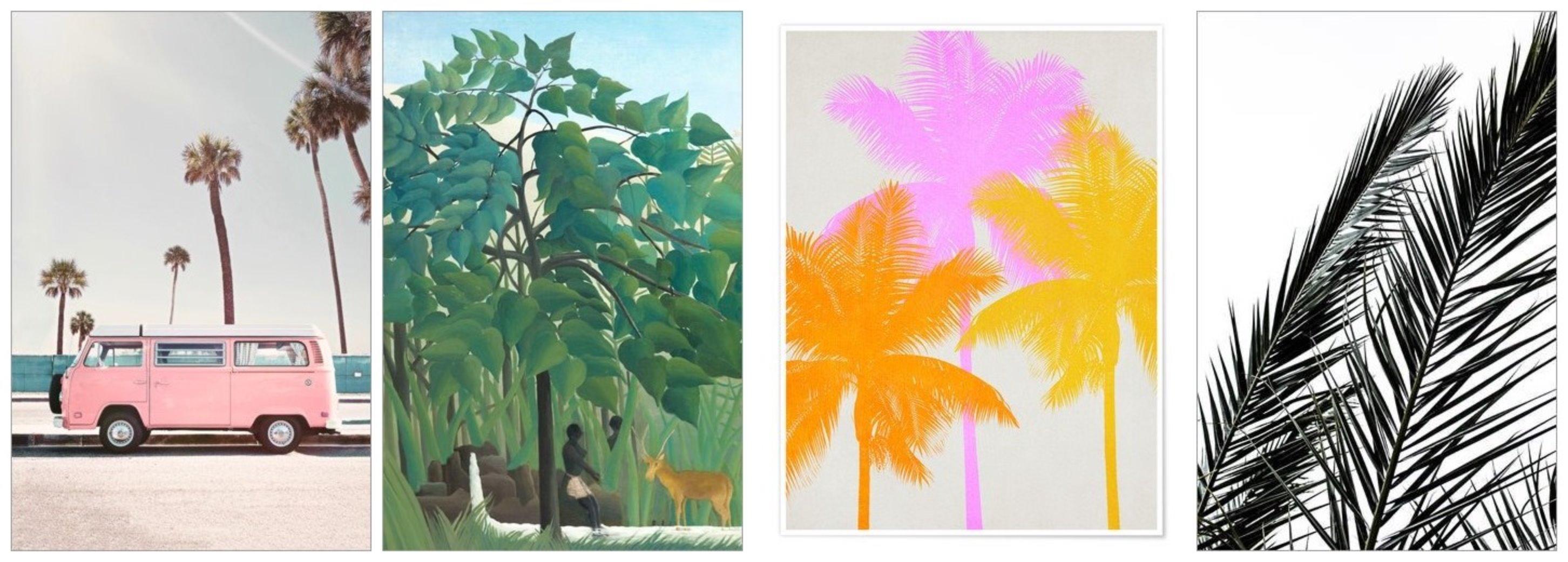 Posterlounge palmiers