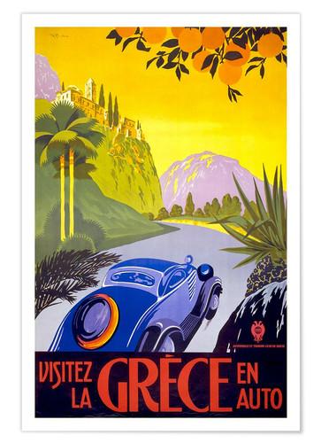 affiche rétro Grèce Posterlounge