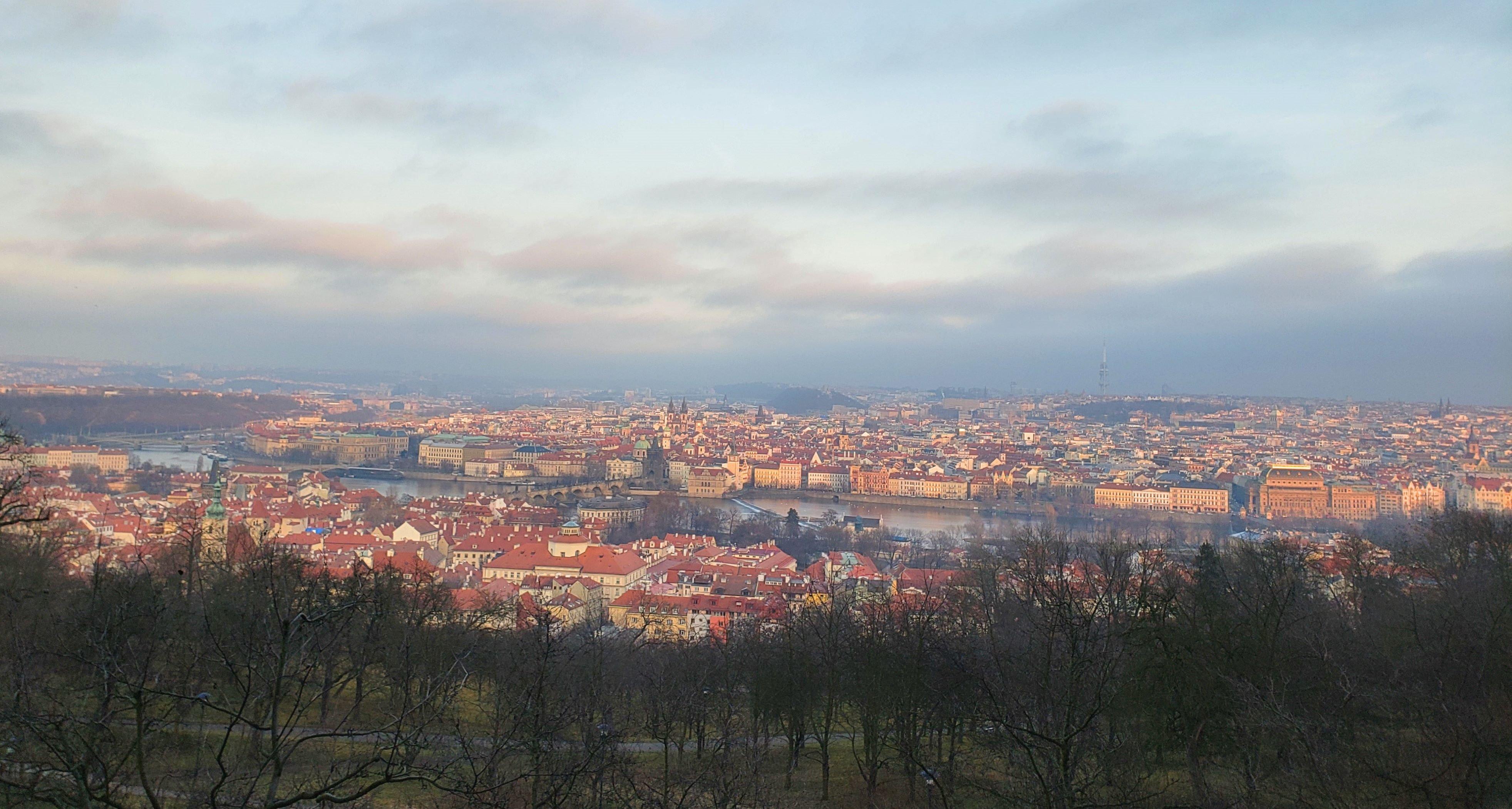 vue sur Prague depuis Petrin