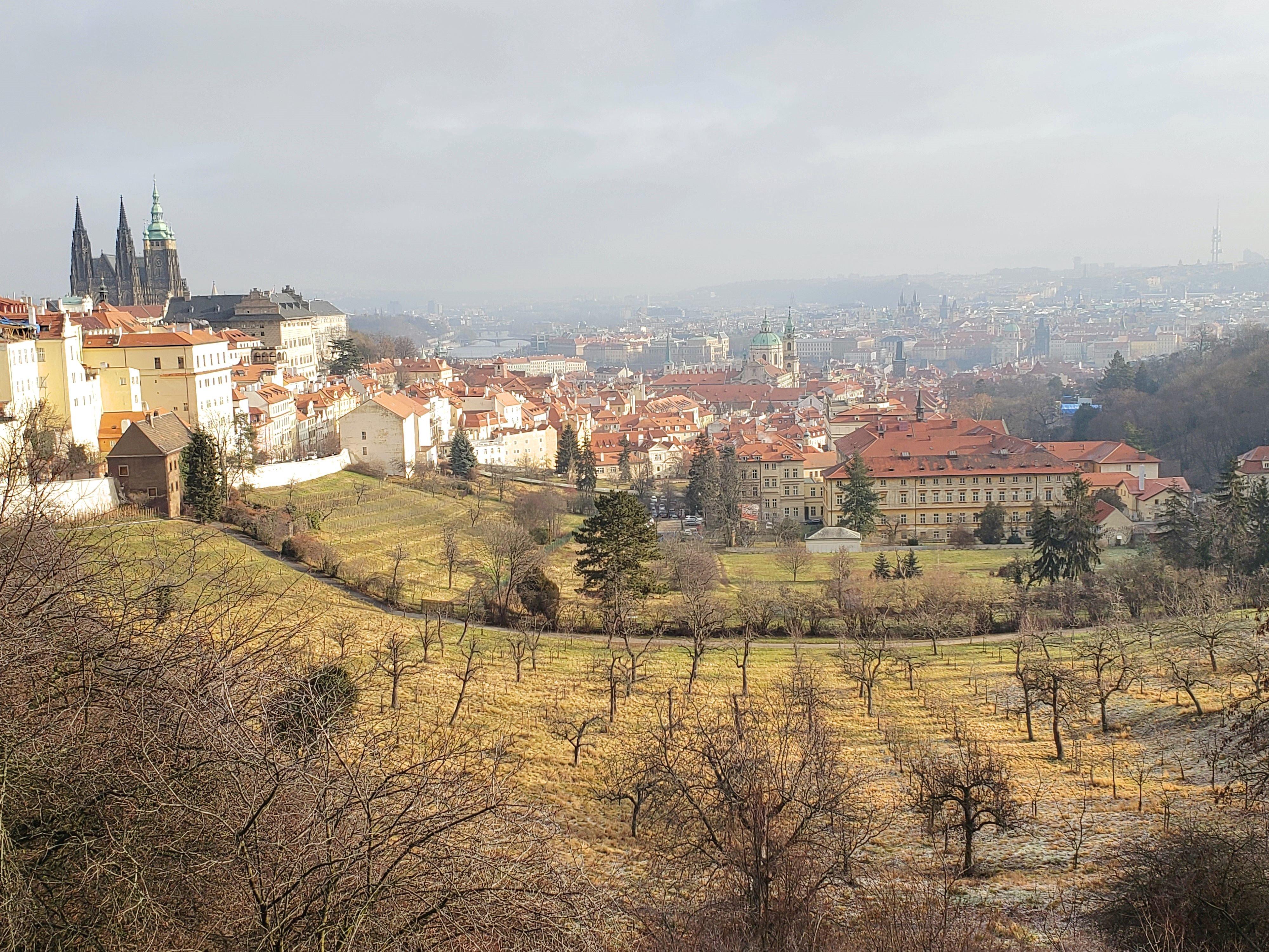 panorama château Prague