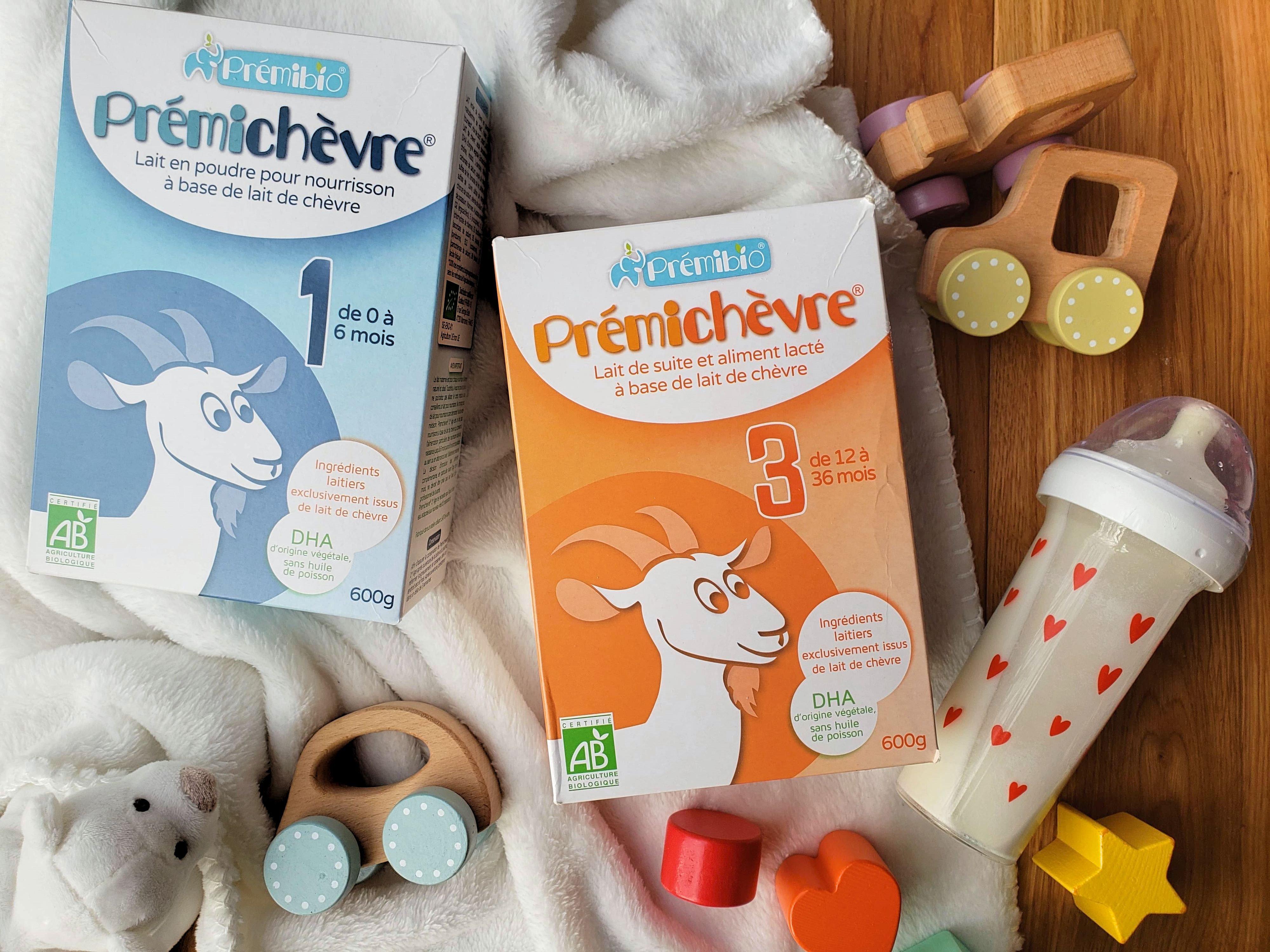 Premibio test du lait de chèvre pour bébé
