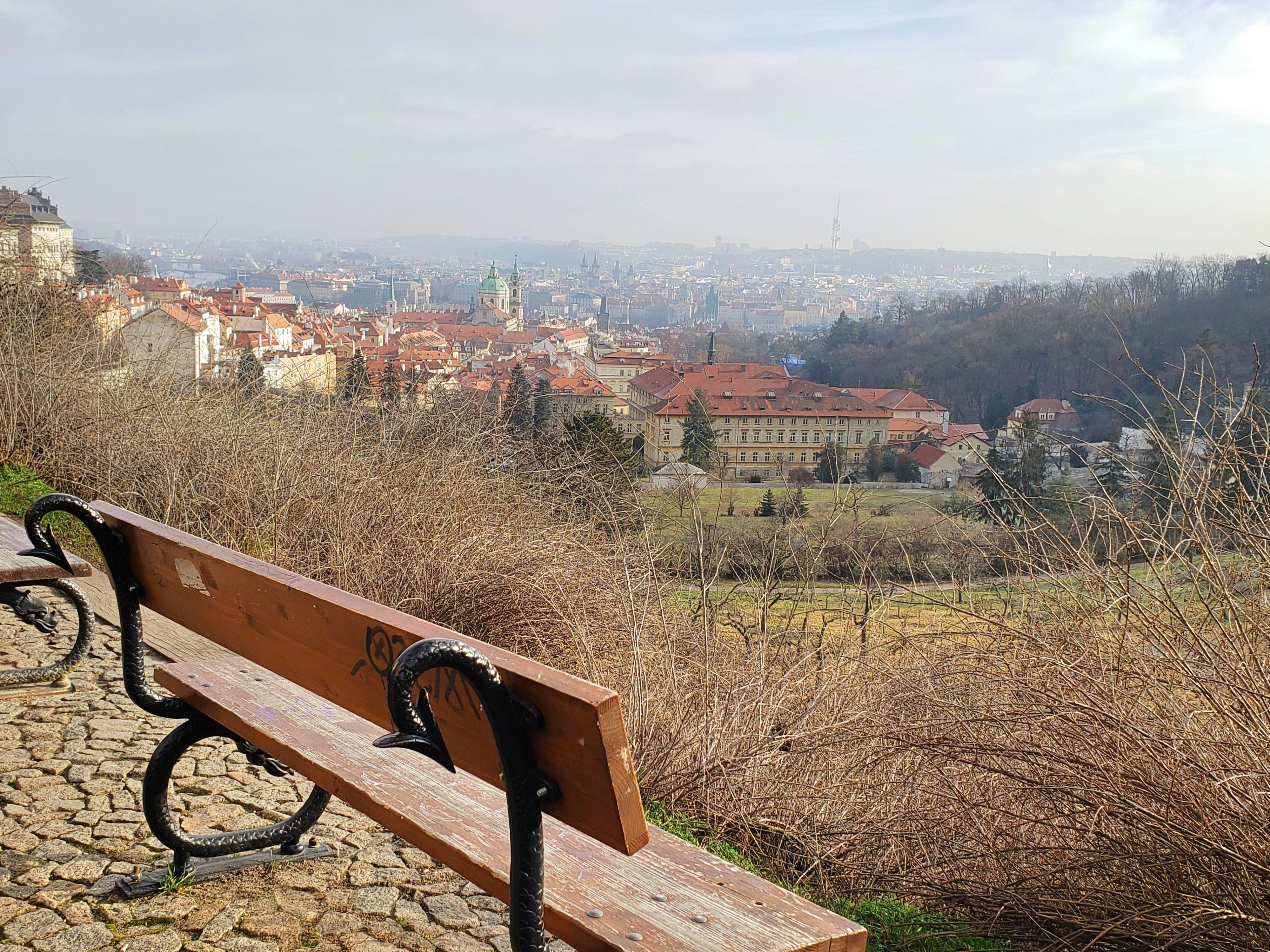 vue sur Prague depuis le quartier du château