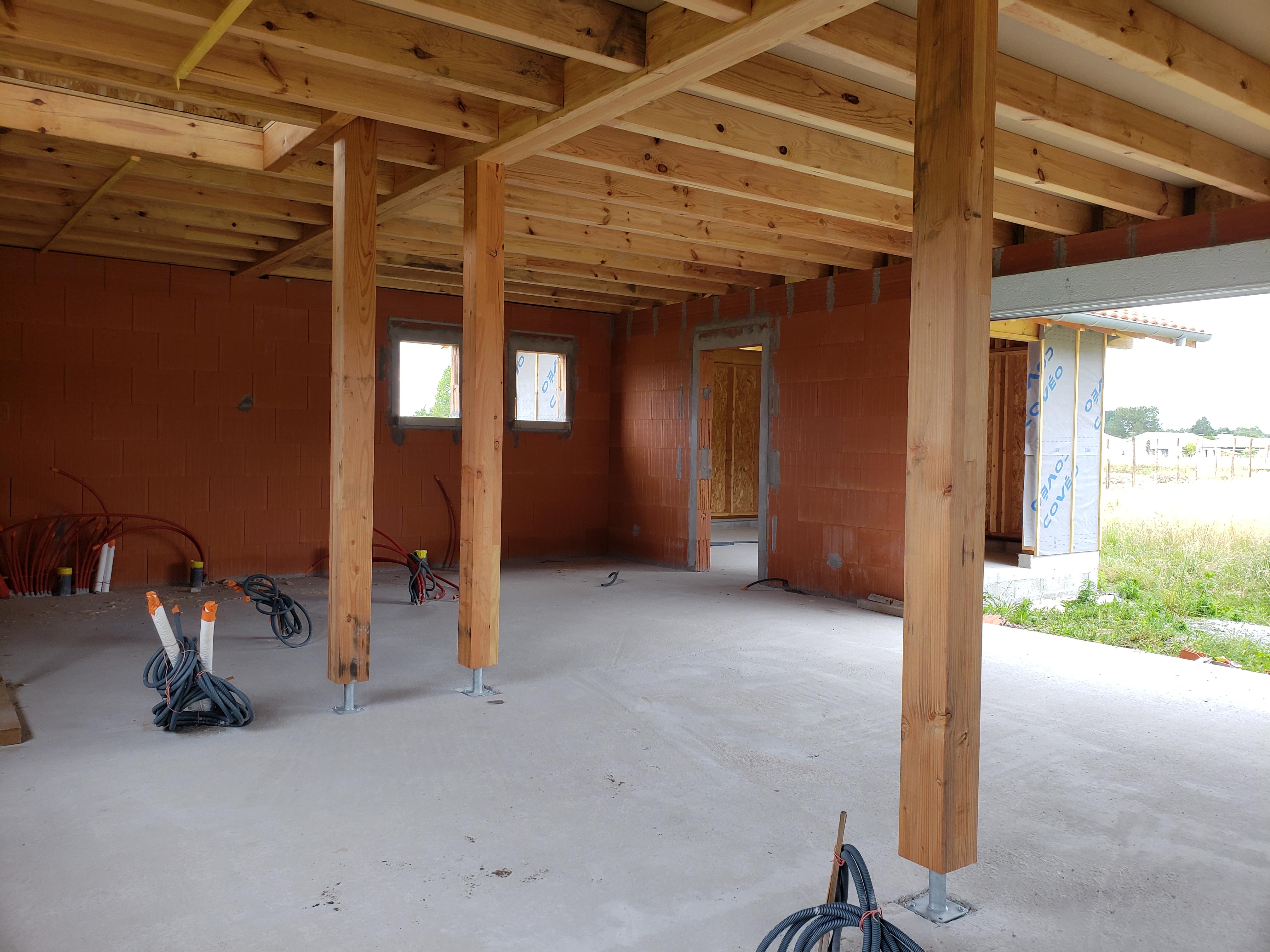 chantier maison en bois Landes