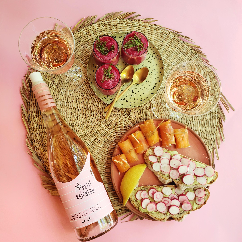 accord mets et vin rosé Terre de Vignerons