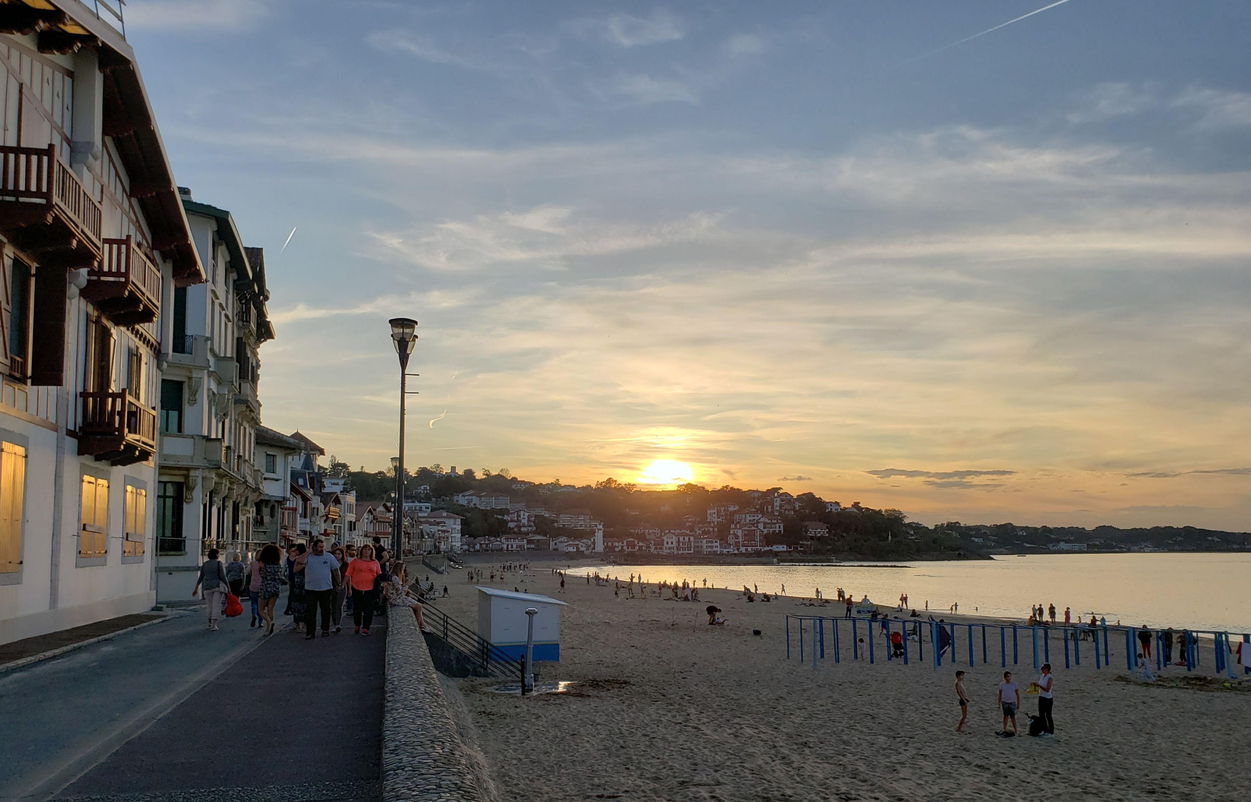 coucher de soleil sur Saint Jean de Luz