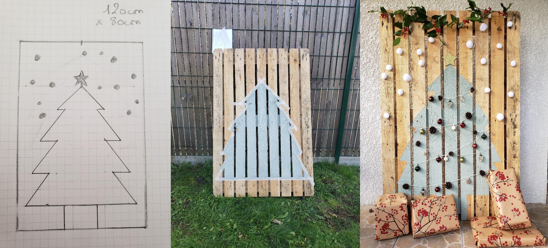 DIY sapin de noël en palettes de bois