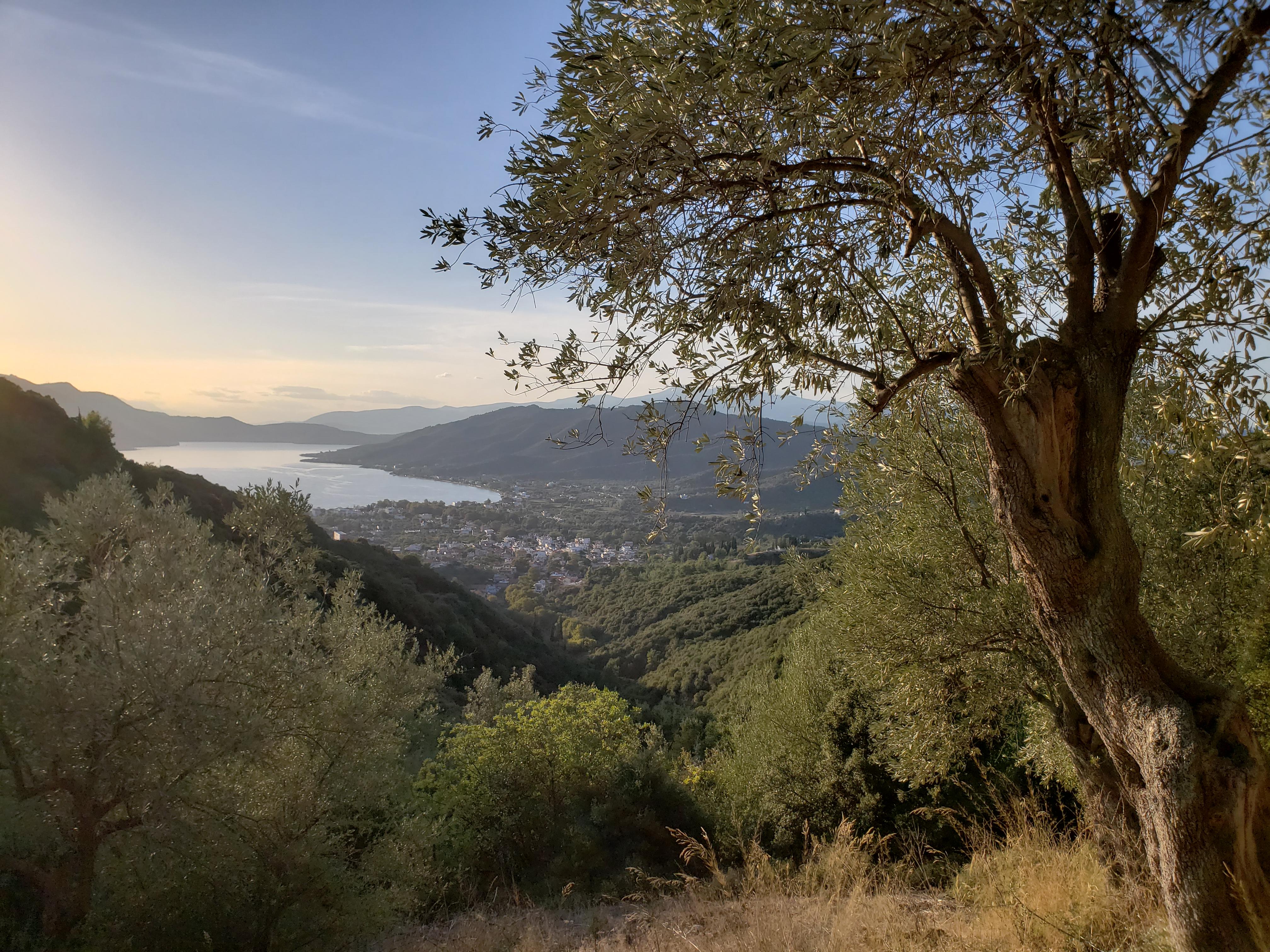 vue panoramique sur Edipsos Loutra