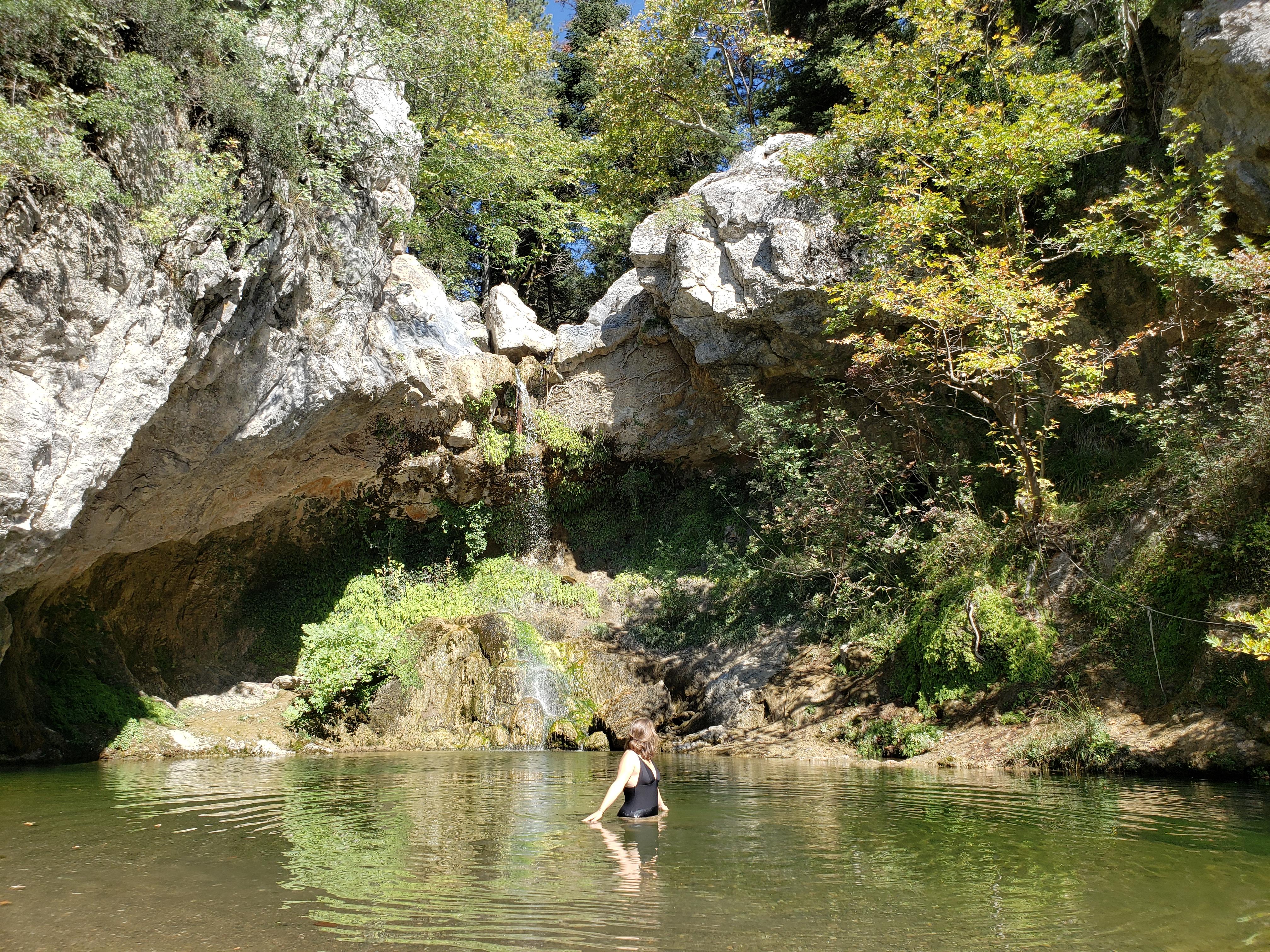 cascade de Drimonas ile d'Eubée