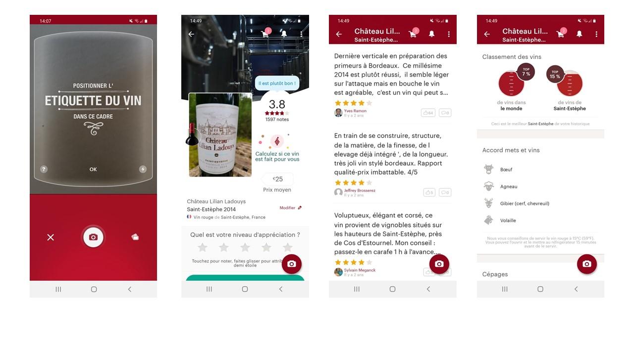 application Vivino scan de bouteille