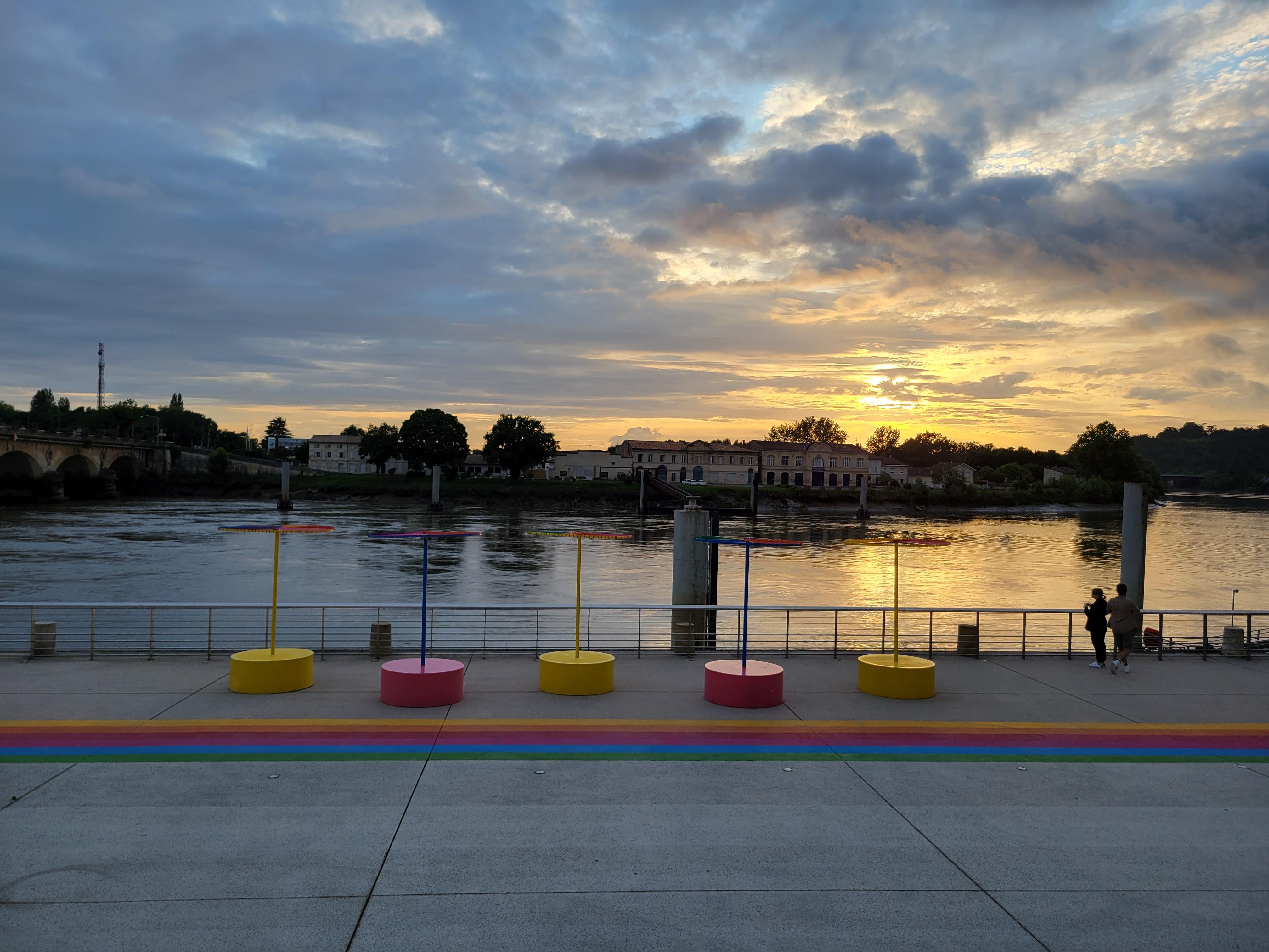 coucher de soleil sur Libourne